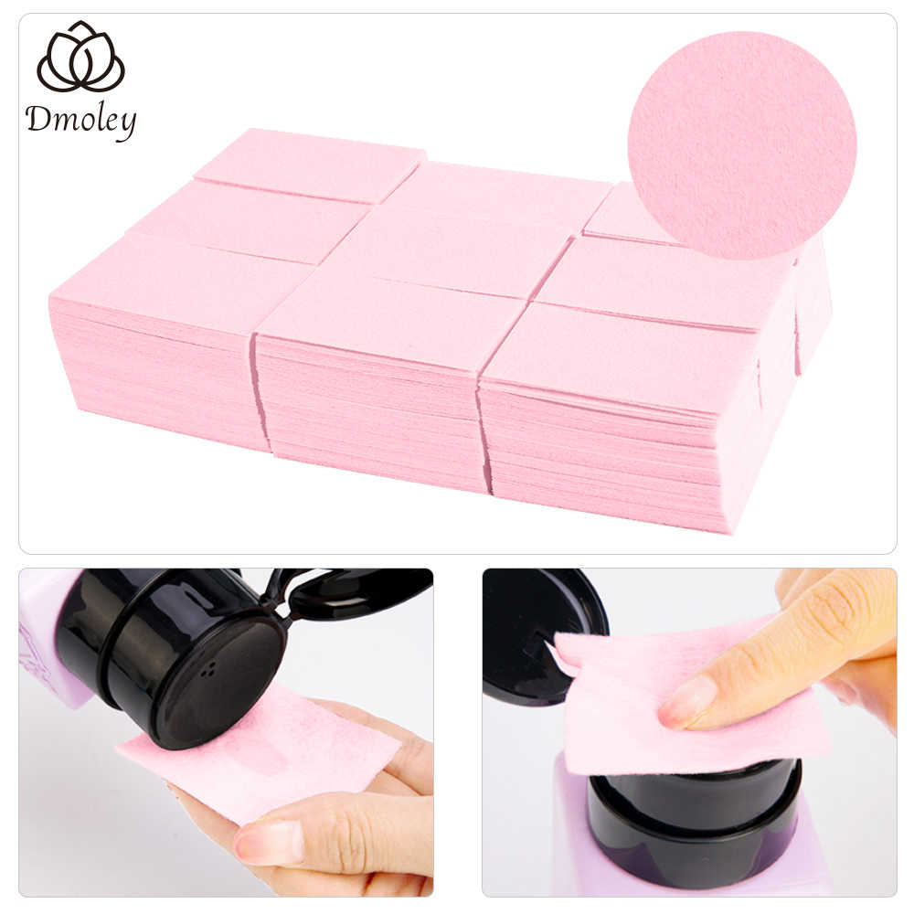 Dmoley 700 Pcs Lint-Free Wipes Napkins Nail Polish Remover Gel Nail Wipes Nail Cutton Pads Manicure Pedicure Gel Tools