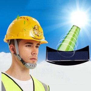 Image 5 - Güneş elektrikli fan Kask Açık Çalışma Güvenliği Baret Inşaat Işyeri ABS malzeme koruyucu bone tarafından Desteklenmektedir GÜNEŞ PANELI