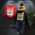 2016 de invierno nuevos niños Coreanos y el género neutral impresión de suéter de cachemira de manga larga camisa envío libre