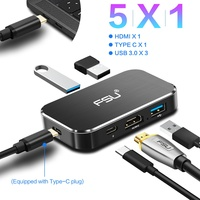 Thunderbolt3 4K 60Hz USB C to HDMI Type C to hdmi USB C 3. 0 PD Charging Adapter 5 in 1 Type c HUB for Apple Macbook MateBook