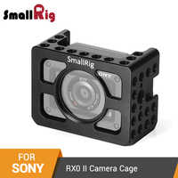 """SmallRig RX0 ii Camera Cage for Sony RX0 II Form-Fitted Cage With 1/4""""-20 Threaded Holes and Arri Locating Holes - 2344"""