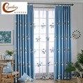 Затемняющая занавеска для спальни  синяя Радужная занавеска на окна  декоративная занавеска по индивидуальному заказу для Bady Winodw