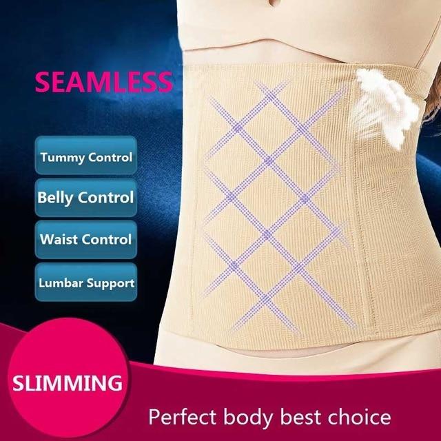 Women slim waist Belt Waist Trainer Slimming Wedding Body Shaper Postpartum Belly Band Pulling Underwear Long Torso Corset 3