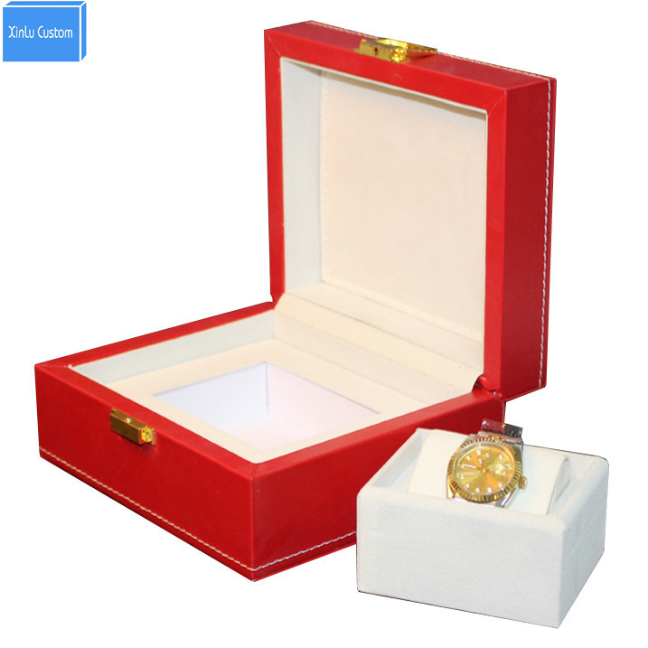 Luxury big red leather watch box display case Jewelry hour box display box promotion, May customize cajas de regalo para relojes домкрат винтовой ромбовидный big red t10152