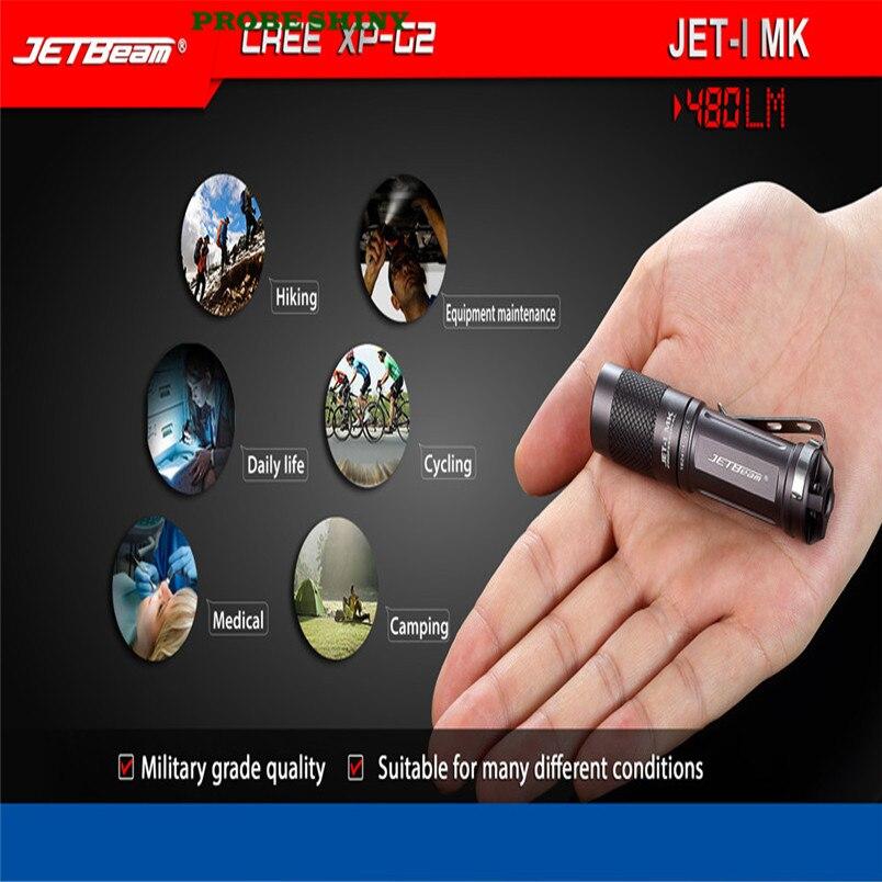 HOT!!! JETbeam JET-1 MK XP-G2 480 Lumens Mini Portable Waterproof LED Flashlight Free Shipping #NO31 jetbeam jet i mk 480lm cree xp g2 led edc flashlight