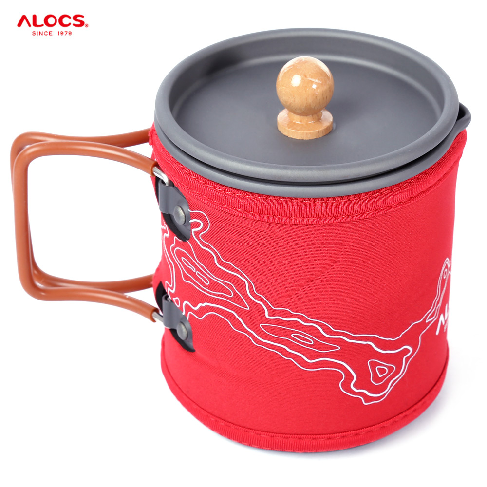 Portable Outdoor Aluminum Coffee Pot Kettle Cup Set Camping Picnic Water Teapot Coffee Pot Camping Hiking Picnic BBQ Kettle