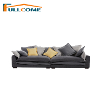 Luxury Home Furniture Modern Fabric Scandinavian Sofa Living Room Italian Corner Sectional Feather Sofa Stool