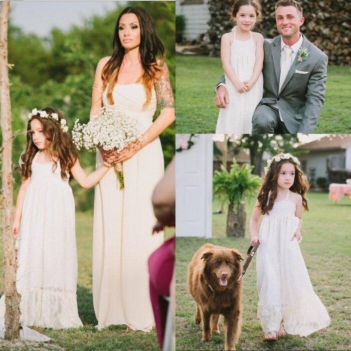 Недорогие винтажные платья цвета слоновой кости с цветочным узором для девочек, на заказ, с бретелькой, кружевное, для особых случаев, длинное платье в пол