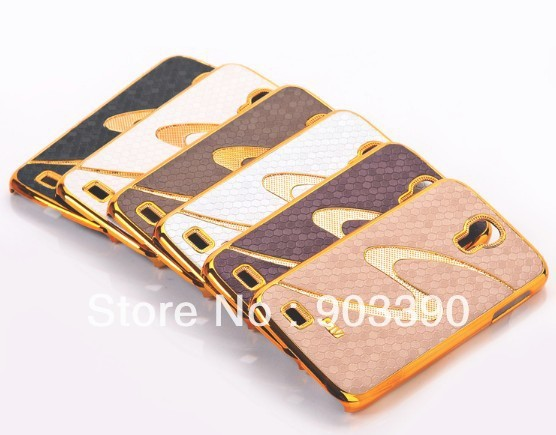 Luxury Case For Galaxy S4 ,New Electroplating S Line snake skin Back Hard Case For Samsung Galaxy S4 i9500 Free shipping by DHL
