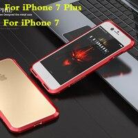 Iphone用7デラックスアルミフレーム耐衝撃メタルバンパー用iphone 7プラス高級電話カバーdropproofケースluphie
