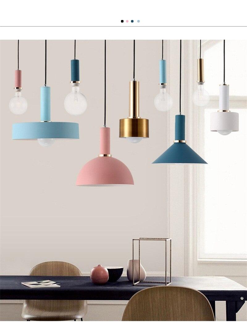 Nordic loft style iron droplight lamp simple modern led pendant light fixtures dining room hanginglamp home indoor lighting
