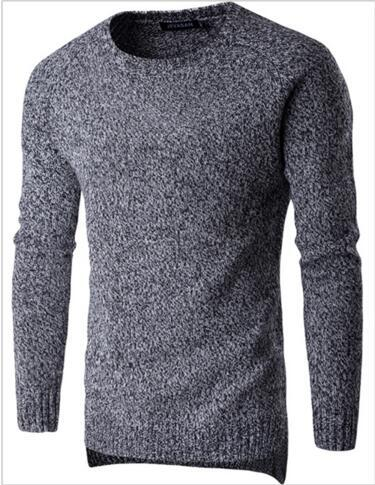 Sweaters Pullover Men 2017 O-Neck Sweater Male Classic Sweater Fashion Simple Solid color High Quailty Men'S Sweater 2XL CCVV