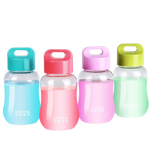 UPSTYLE Mini Small Wide Mouth Plastic Sports Travel Water Pocket