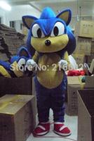 High quality the Hedgehog Mascot costume Sonic Mascot costume Cosplay Free shipping