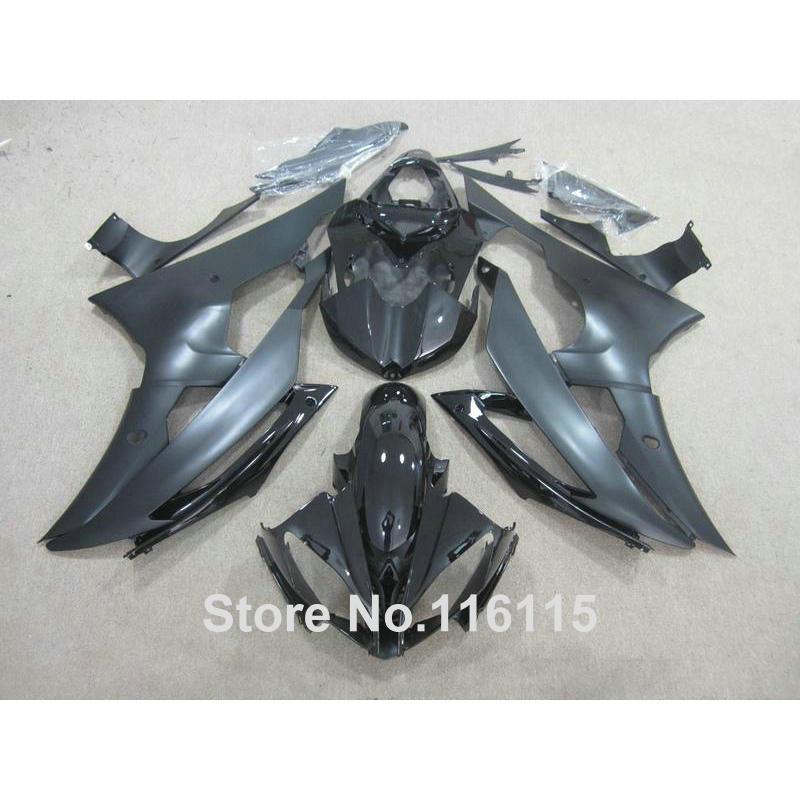 Литья под давлением обтекатели кузова набор для YAMAHA R6 в 2008 -2014 все матовый черный полный комплект обтекателя и YZF R6 в 08 09 - 14 ZB74