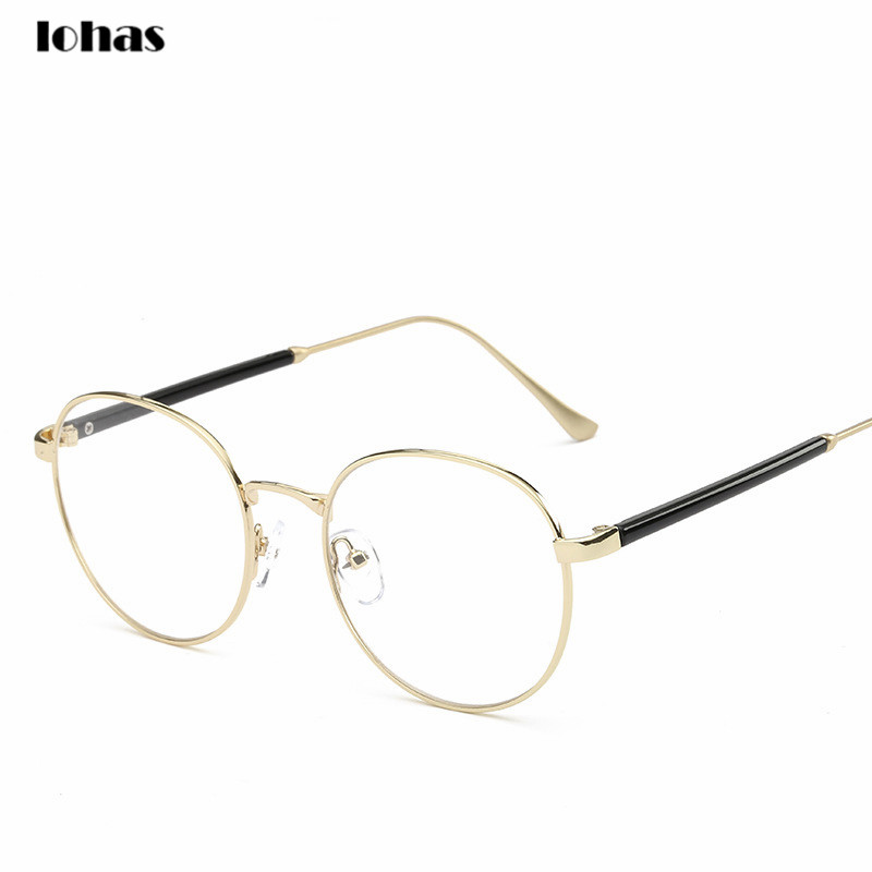 latest style in eyeglasses i75g  2016 Latest Unisex Retro Style Round Eye Glasses Frame Metal Frame Clear  Lens Optical Spectacles Casual Eyewear Reading Glasses
