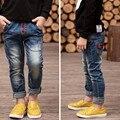 Ano novo's, roupas primavera outono das crianças meninos jeans casual crianças calças calças do bebê de varejo, 2-13 menino zíper das calças de brim