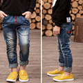New Year's , spring autumn children 's clothing boys casual jeans children trousers baby pants retail , 2-13 boy zipper jeans