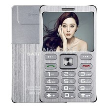 Small Size Metal Shell Card Mini Phone SATREND A10 1.77 Inch TFT Dual SIM Card with Bluetooth Dialer Function 480mAh(China)