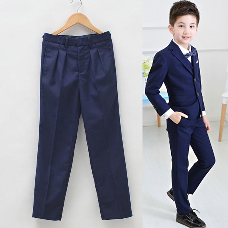 2018 boy trousers Big Boys Pants For Trousers Kids Suit Boy Pantalon Garcon Enfant Student Performances Full Pantaloni Ragazzo(China)