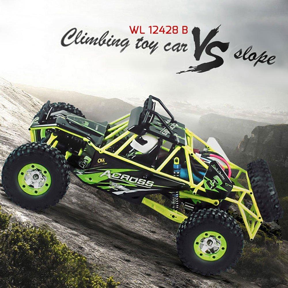 Rc Car Wltoys 12428 Electric Motor 220v 4wd High Speed 50KM / H - Радиоуправляемые игрушки