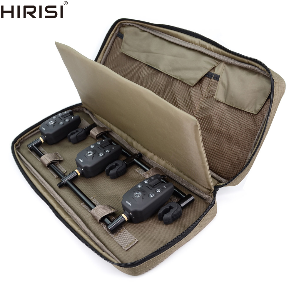Carp Fishing Luggage Buzz Bar Bag Pouch For Fishing Accessories Bank Sticks Bite Alarms Storage Bag 45x20x6cm