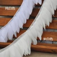 Best Sellling 2 Yard Lot 15 Colors DIY Handmade Leaves Chiffon Lace Trim Bride Wedding Hair