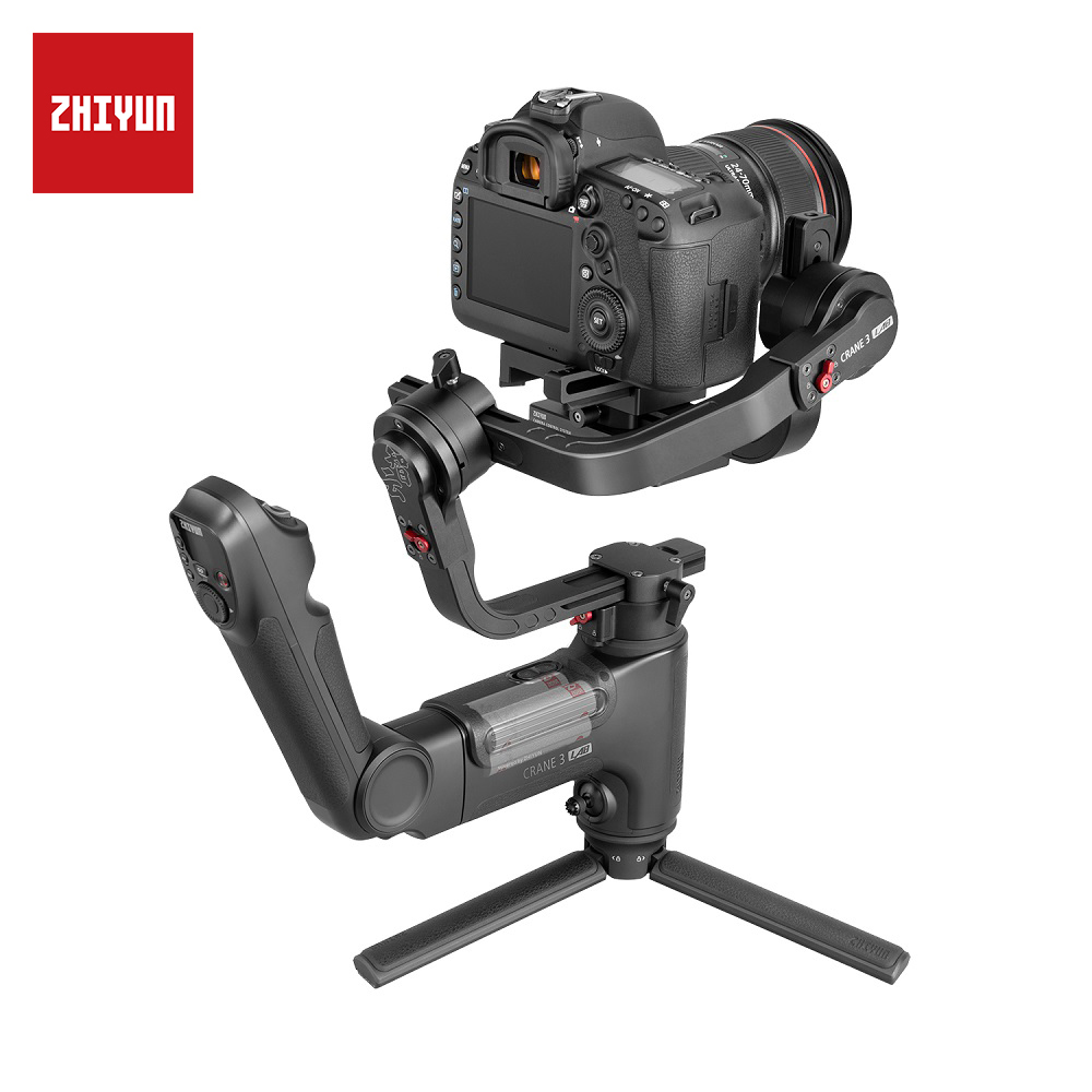 ZHIYUN grúa oficial 3 laboratorio estabilizador de mano de 3 ejes inalámbrico 1080P Transmisión de Imagen Zoom y Control de enfoque DSLR cámara cardán