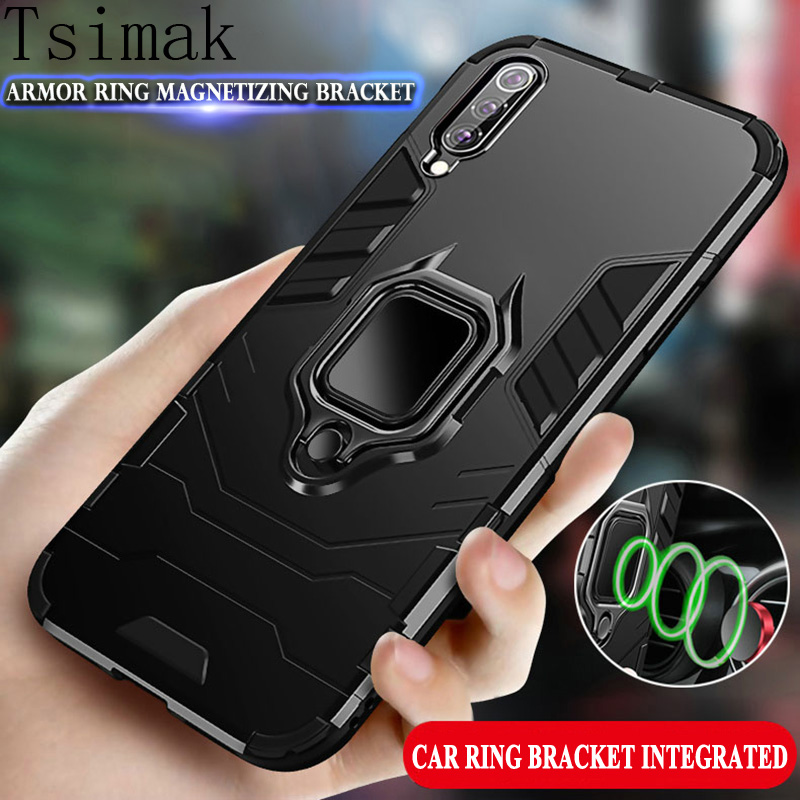 Armor Case For <font><b>Samsung</b></font> Galaxy A10 A20 A30 A40 <font><b>A50</b></font> A60 A70 A80 A90 M10 M20 M30 M40 A505F <font><b>2019</b></font> A50s <font><b>Cover</b></font> Car Ring Phone Coque image