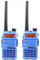 BAOFENG UV 5R Blue Color Dual Band Two Way Radio Free Earpiece Baofeng UV 5R Walkie
