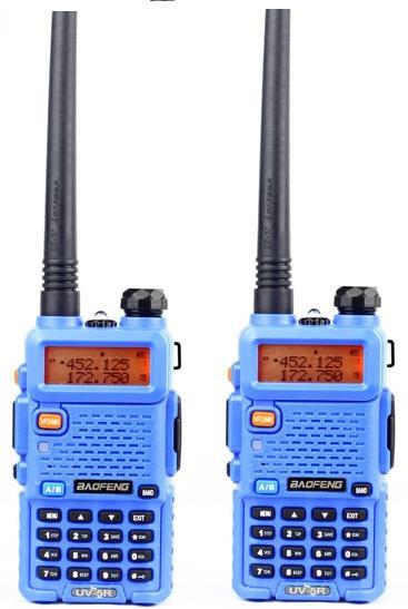 2pcs BAOFENG UV 5R Dual Band Two-way Radio Free Earpiece Baofeng UV-5R walkie talkie Baofeng UV5R portable radio for car