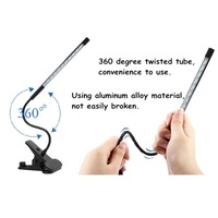 Touch Dimmable Flexible Light Eye Care Reading Lamp Adjustable LED Touch Lamp USB LED With Switch