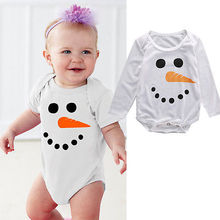 Baby Girl Cotton Jumpsuit Baby Boy Cartoon Bodysuit Newborn Infant Autumn Outfits Toddler White Clothes