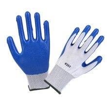 Садовые резиновые перчатки из полиэстера для строителей, рабочие перчатки, пластиковые перчатки для садоводства