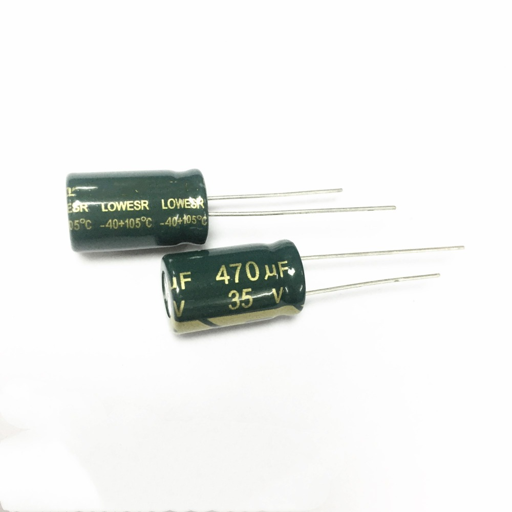 20PCS 35V 680uF High Frequency LOW ESR Radial Electrolytic Capacitors 10x20mm