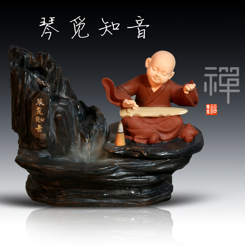 Shenzhen handicraft company custom wholesale young novices novices chess move back if given resin incense Decoration image