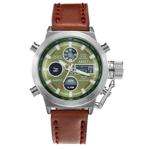 leather white green