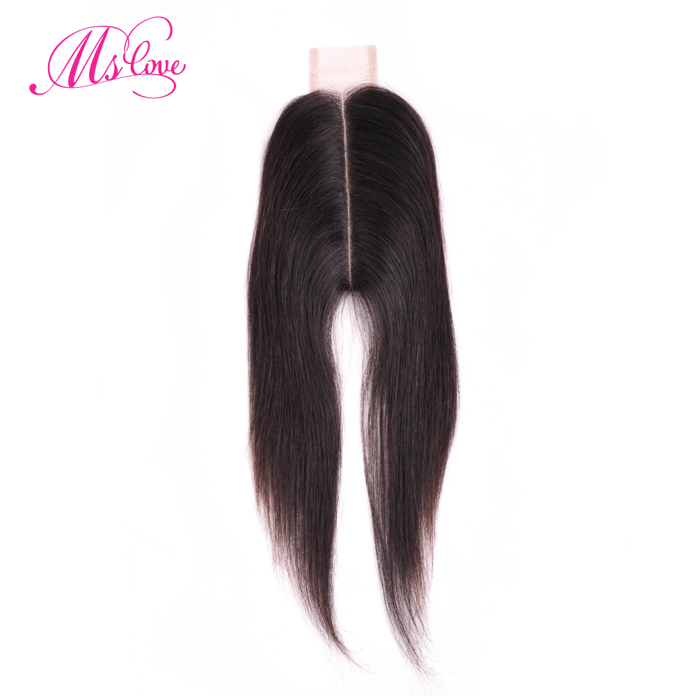 Ms Love 2x6 Closure Peruvian Hair 2*6 Lace Closure Kim K Human Hair Closure Non Remy Middle Part Kim K Natural Hair Extension