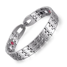 купить Jewelry Stainless Steel Magnet Jewelry Lady Germanium Grain Far Infrared Negative Ion Bracelet в интернет-магазине