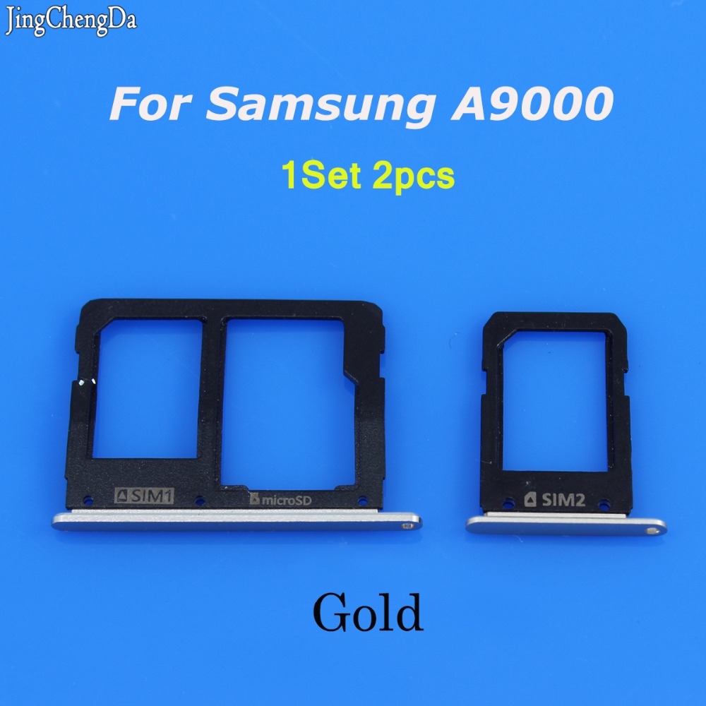Jing Cheng Da 1SET Mobile Phone SIM Card Tray Holder For Samsung Galaxy A9 A9000 Micro Sim Card Carrier Adapter ...