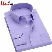 Дизайнер бизнес fit твердые рубашка рубашки длинным тонкий рукавом платье мужчины