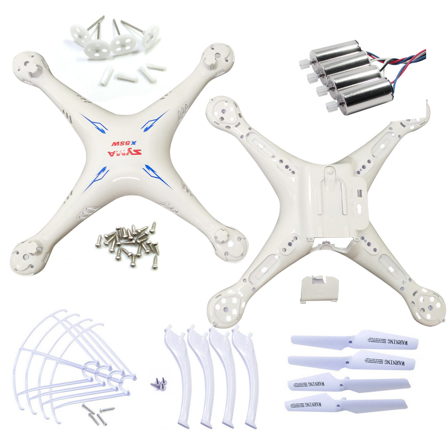 SYMA X5SC X5SW Spare Parts Shell Motor Propeller Main Blade Landing Gear Kit Protection Ring Frame rc Drone Accessory цена