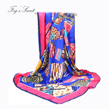 luxury brand printed scarves for women high quality real silk seaside tourist beach scarfs 140 cm echarpe femme hiver