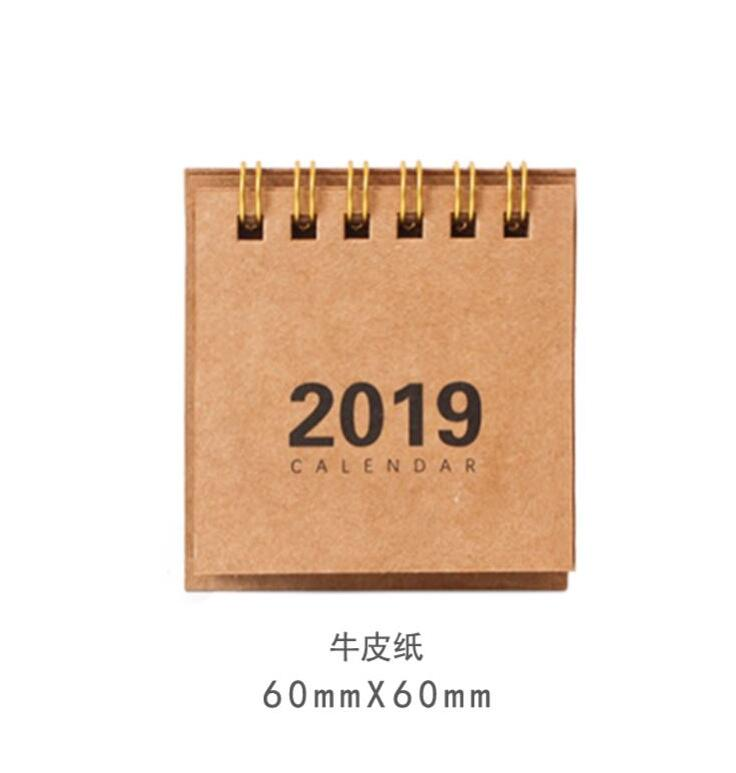 2019 New Year Calendar 2019 Fashion Simple Lovely Mini Table Calendars Vintage Kraft Paper Desk Calendar Office School Supply Office & School Supplies