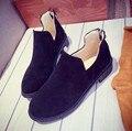 15 .. 2016 de invierno de las mujeres botas Martin femeninos de cuero nobuck estilo Británico botas cortas y botas de tobillo retro marea de las mujeres zapatos de un solo