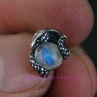 925 Sterling Silver Jewels Snake Disc Beads Thai Silver Earrings 1 Pair