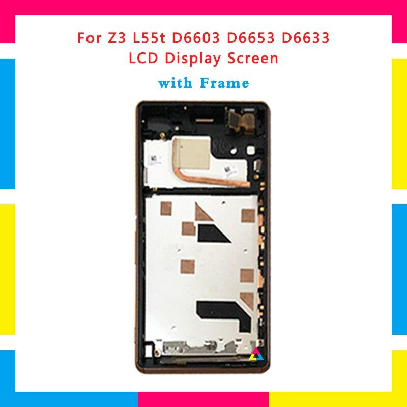 5 pcs LCD Écran D'affichage Avec Écran Tactile Digitizer Assemblée Pour Sony Xperia Z3 L55T D6603 D6653 D6633 Remplacement