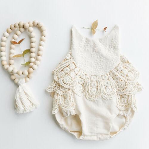 0-24M Newborn Infant Girl Clothes Lace   Romper   Sunsuit Jumpsuit Outfits Baby Clothing