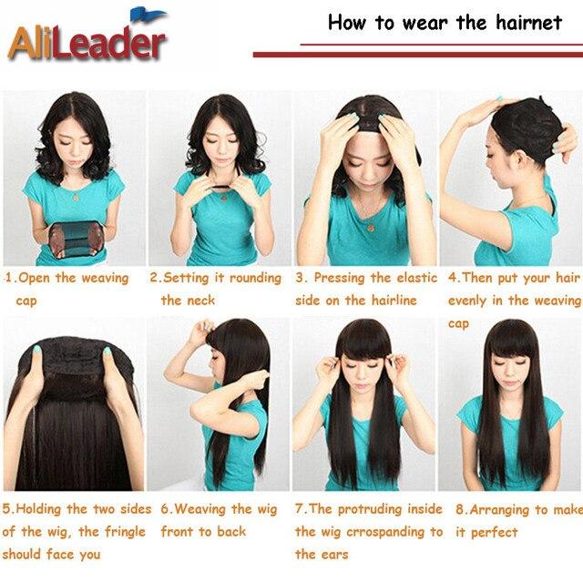 Alileader Top Sale Hairnets Good Quality Mesh Weaving Black Wig Hair Net Making Caps Weaving Wig Cap  Hairnets 20-50Pcs/Lot 6