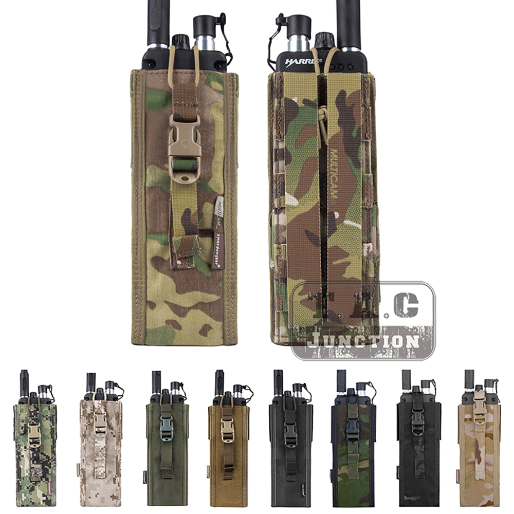 US $23 7 5% OFF|Emerson Tactical MOLLE Universal MBITR PRC 148 PRC 152  Radio Pouch EmersonGear Walkie Talkie Pocket For for Attaching RRV Vest-in